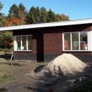 Vooraanzicht gasloze nieuwbouw woning Norg